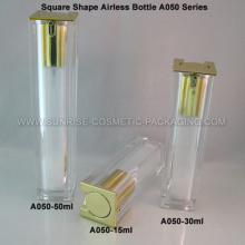 15ml 30ml 50ml Square Shape Clear Airless Freshener Bottle