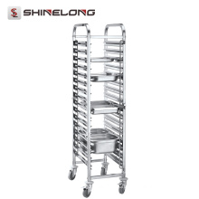S076 Assembling Higher Single Side Stainless Steel GN Pan Trolley