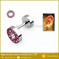 316L Surgical Stainless Steel Multi-Rhinestone Jeweled Fake Plugs Piercings