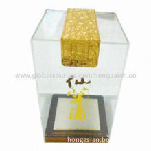 OEM Transparent Acrylic Gift Boxes for Wine Glass/Wine Display