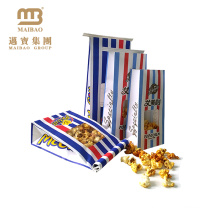 Factory Food Grade Heat Sealable Packaging Custom Logo Printed Greaseproof Paper Popcorn Bags