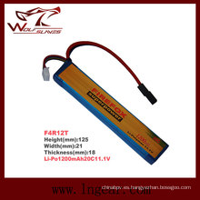 1200mAh Firefox 11.1V Li-Polymer de Lipo Li-Po batería militar 20 c