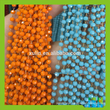 Faceted Round Mix-color Crystal Glass Beads Metal Wire Rosary Beads Chain