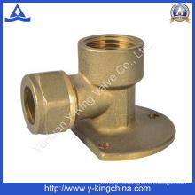 Racor de tubo de codo de latón para agua, aceite (YD-6025)