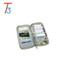 multi-purpose fashion organizer for card money ticket travel wallet passport bag