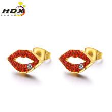 Модные ювелирные изделия с бриллиантами, серьги из нержавеющей стали, серьги из золота 18 карат (hdx1120)