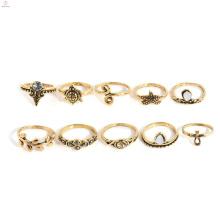Милые Животные Ювелирные Изделия Костяшки Миди Золотая Черепаха Кольцо