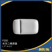 Grossistas China especial design fina placa de porcelana barato