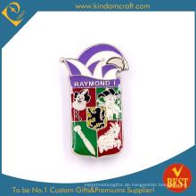 Heißer Verkauf Marke Custom Design Backen Finish Metall Souvenir Pin Abzeichen Aus China