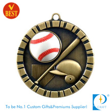 Medalla de béisbol modificada para requisitos particulares China al por mayor del diseño 3D con Ball Paster