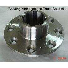 Flange de aço inoxidável com acabamento em usinagem CNC