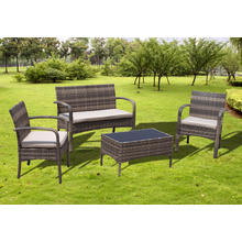 Ensemble de Sofa fauteuil confortable jardin rotin pas cher