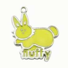 Epoxy Animal Pets Cat ID Pendant