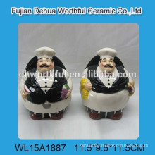 Popular ceramic chef condiment set for kitchen
