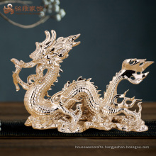 Home decoration accessories luxury resin animal crafts dragon statue
