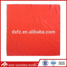 Microfiber Cleaning Cloth with Large Scale Embossed Logo; Hot Stamped Microfiber Cleaning Cloth for Sunglasses