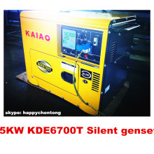 4.8kw silencieux générateur diesel avec panneau numérique