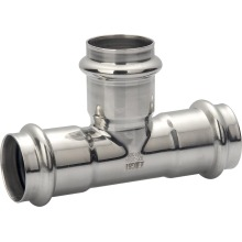 304 316 stainless steel pipe fitting equal tee
