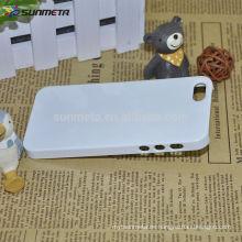 Fábrica de venta al por mayor 3D sublimación en blanco de teléfono celular de impresión de la caja para ip5