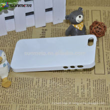 Fábrica de atacado 3D Sublimação Blank Cell Phone Case impressão para ip5