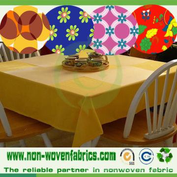 Tela TNT no tejida impresa para paño de mesa