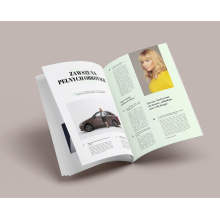 Hot Off Offset Printing Softcover Magazine Printing