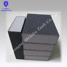 """Bloque de esponja de lijado de cuatro lados de óxido de aluminio de 3-3 / 4 """"* 2-1 / 2"""" * 1 """""""