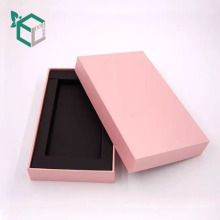 Custom stock Natural white foam insert phone paper box