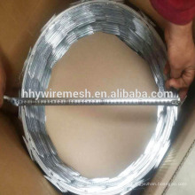 Galvanized razor barbed wire price concertina razor blade wire