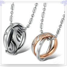 Collar de la manera de la joyería del acero inoxidable del colgante de los pares (NK145)