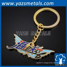 Porte-clés en métal personnalisé pour affichage promotionnel