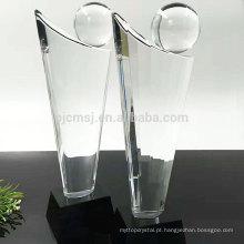 Qualidade garantida atraente preço troféu de cristal personalizado prêmio