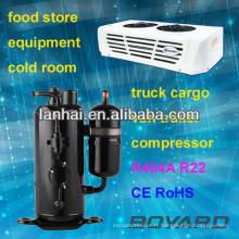 R22 réfrigérateur rotatif réfrigérateur compresseur camions réfrigérateur R404A lanhai compresseur horizontal pour congélateurs