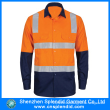 Custom Womens Hi Vis Reflective Work Shirts Workwear Uniforms