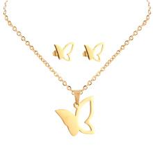 African Gold Plating hohlen Schmetterling indischen Kundan Bollywood Halskette Hochzeit Schmuck-Set