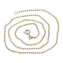 Cadena de perlas de hombre con tri-color