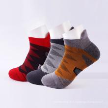 meias de ciclismo esporte invisível toalha tornozelo masculino