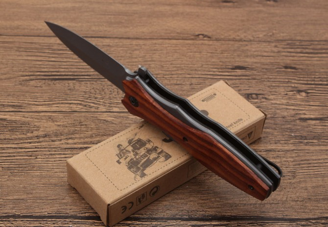Wood Folding Knife