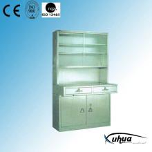 Cabinet d'instruments médicaux de l'hôpital en acier inoxydable (U-10)