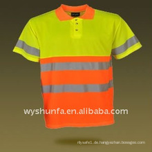100% Polyester Sicherheit Warnung T-Shirt