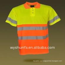 100% poliéster advertencia de seguridad t-shirt