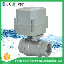 Dn20 AC230V NSF61 Válvula de control de bola de agua motorizada eléctrica de acero inoxidable