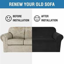 Correas antideslizantes Fundas para sofás de la sala de estar inferiores Fundas