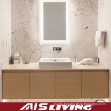 Wood Grain Bathroom Cabinets Vanity for Hotel (AIS-B007)