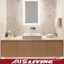 Vaidade de madeira dos armários de banheiro da grão para o hotel (AIS-B007)