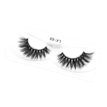 3D 5D 25mm Mink Strip Lashes Cosmetics Eyelashes with Packaging Box