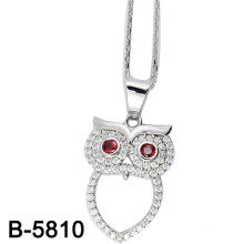 Personalized Design Owl Silver Jewelry Pendant (B-5810)