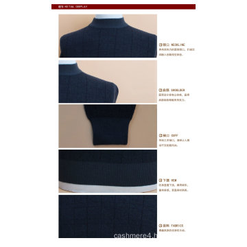 Yak Wool/Cashmere Pullover Round Neck Long Sleeve Sweater/Clothes/Garment/Knitwear