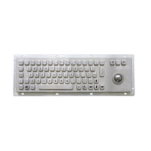 USB Wired Numeric Metal Keyboard with Trackball