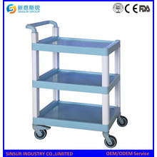 Mulit Purpose ABS 3-Tier Shelf Equipos Médicos Carros / Carro